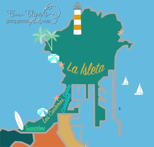 Santa Catalina - La Isleta - Las Canteras - Guanarteme - Mesa y Lopez