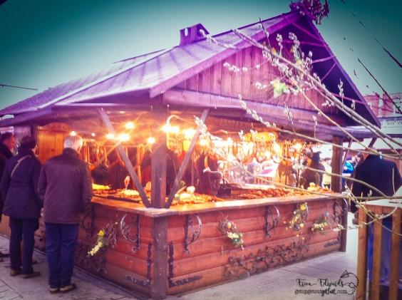 4-2016 Krakow, Poland Old Town Semana Santa Market WM