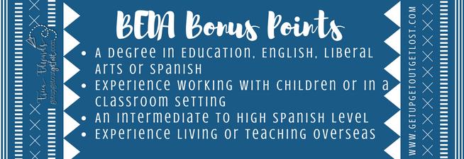 BEDA Bonus Points