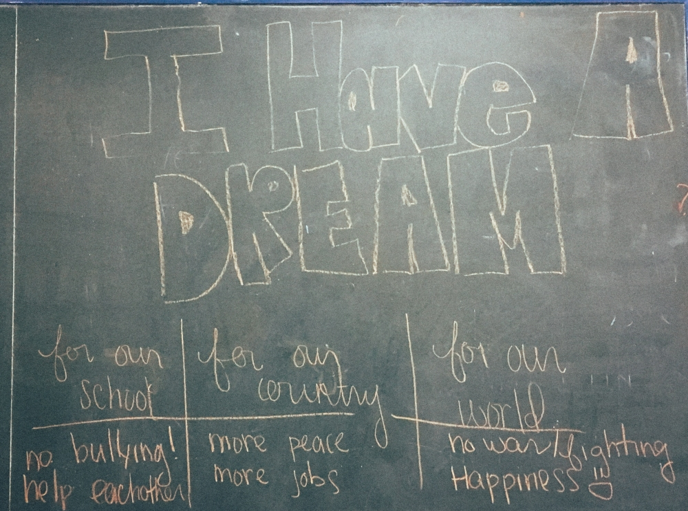 I Have a Dream Blackboard Martin Luther King, Jr. ESL EFL Activities and Lesson Plans