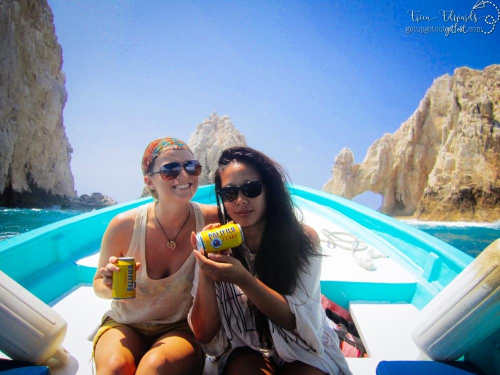 Cabo San Lucas boat arch 7-2012 me katy cruise WM Fuji Velvia