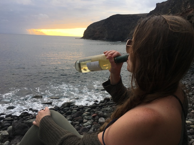 Sweet, White Volcanic Wine from the Canary Islands (Spain)