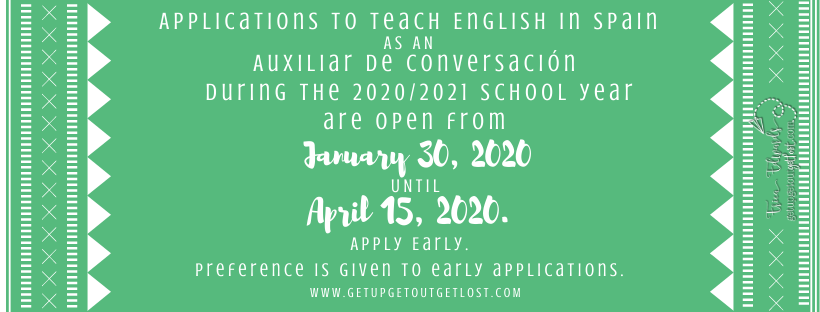 Apply to teach English in Spain Auxiliares de Conversacíon 2020-2021