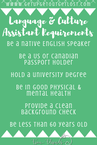 Language Assistant Requirements