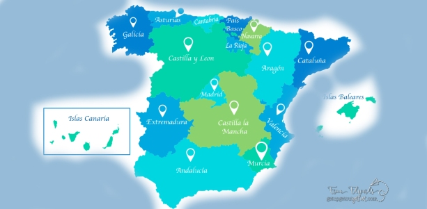 Language Assistants Map of Spain´s Regions