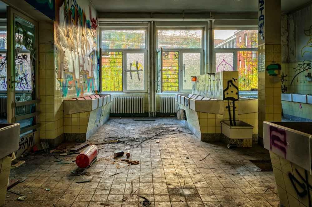 abandoned broken building decay