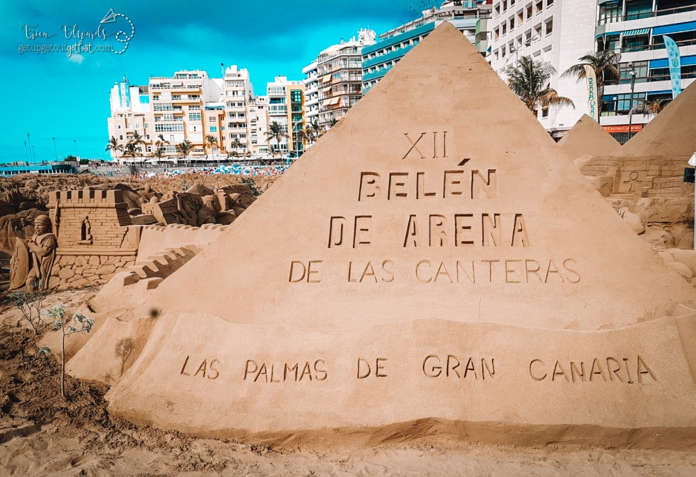 Las Canteras Sand Sculpture Nativity Scene 2