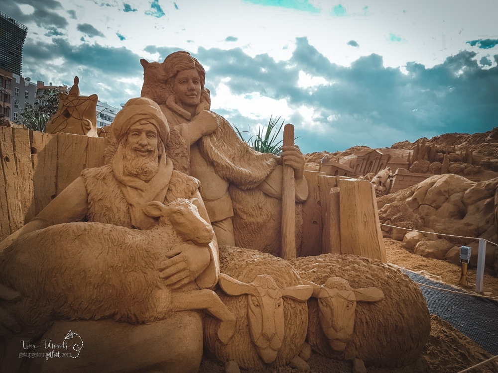 Las Canteras Sand Sculpture Nativity Scene