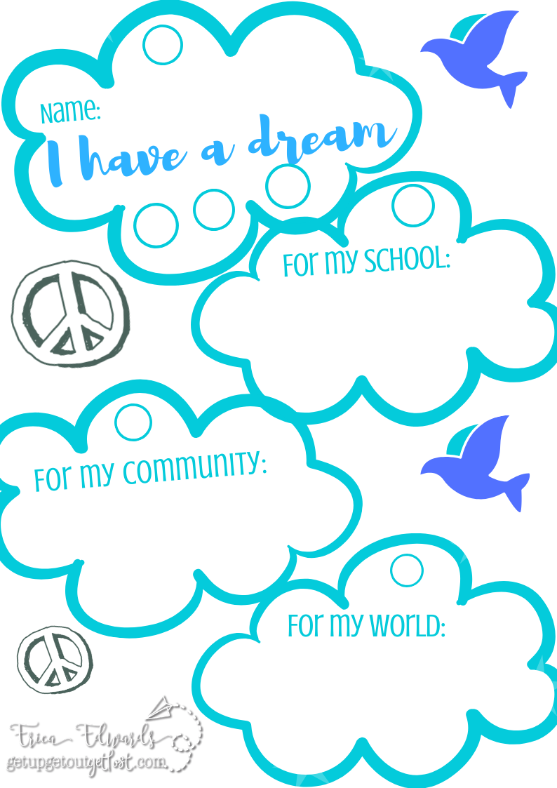 Martin Luther King, Jr. I Have a Dream Hanging Mobile Template