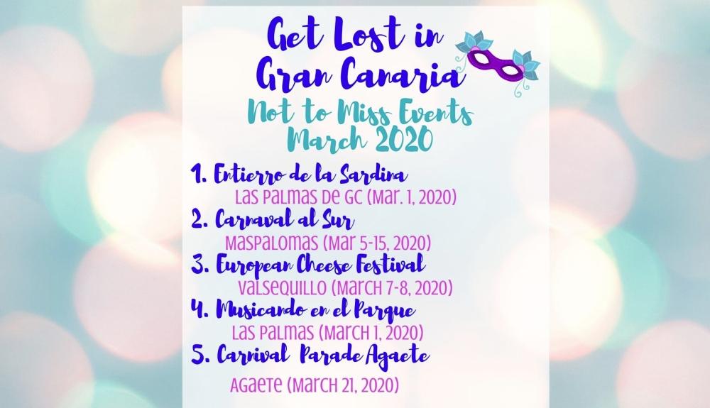 Gran Canaria Events March 2020